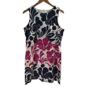 EUC London Times pink & Navy floral dress - 14